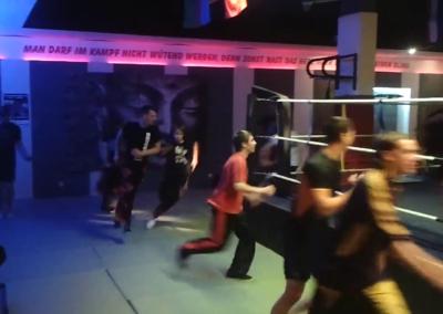 Aufwärmtraining Kickboxen KampfsportCenter Warstein