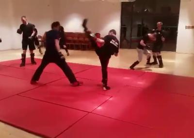 Kickboxtraining im März 2017 in Soest
