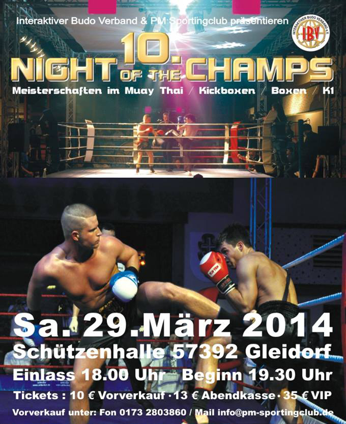 The Night of the Champs – Schmallenberg Gleidorf am 29.03.2014