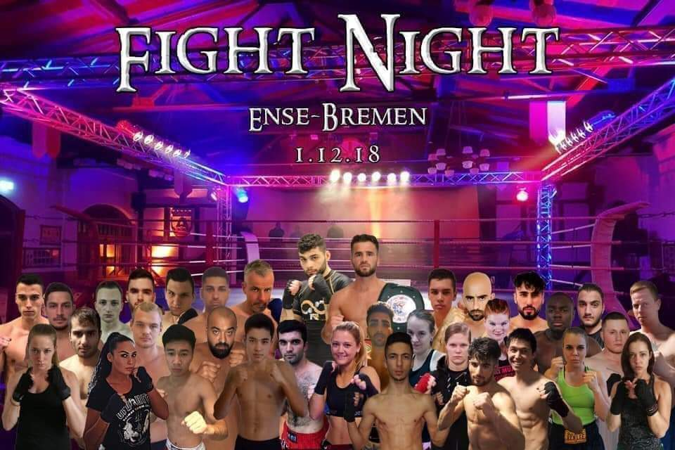 Fight Night Ense-Bremen 1.12.2018 - Plakat