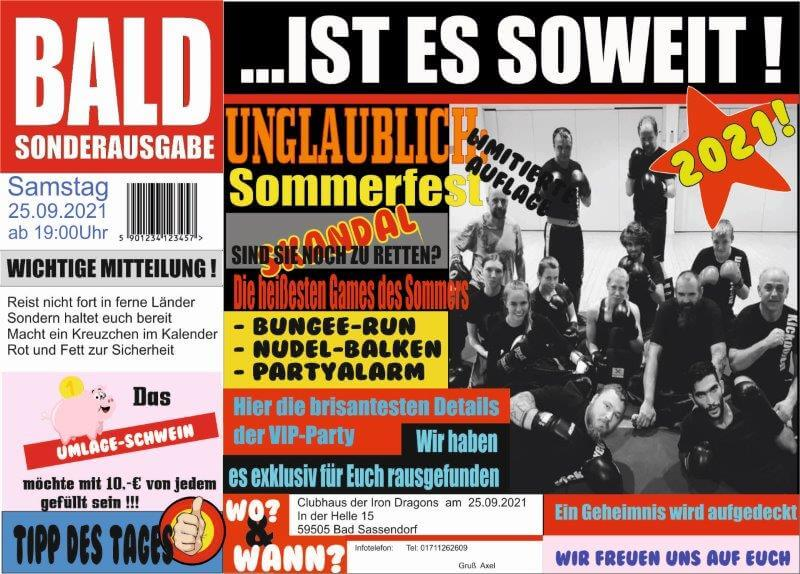 Sommerfest 2021 des KTV Soest am 25.09.2021